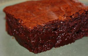 Almost Flourless Tangerine Balsamic & Blood Orange Agrumato Dark Chocolate Brownie
